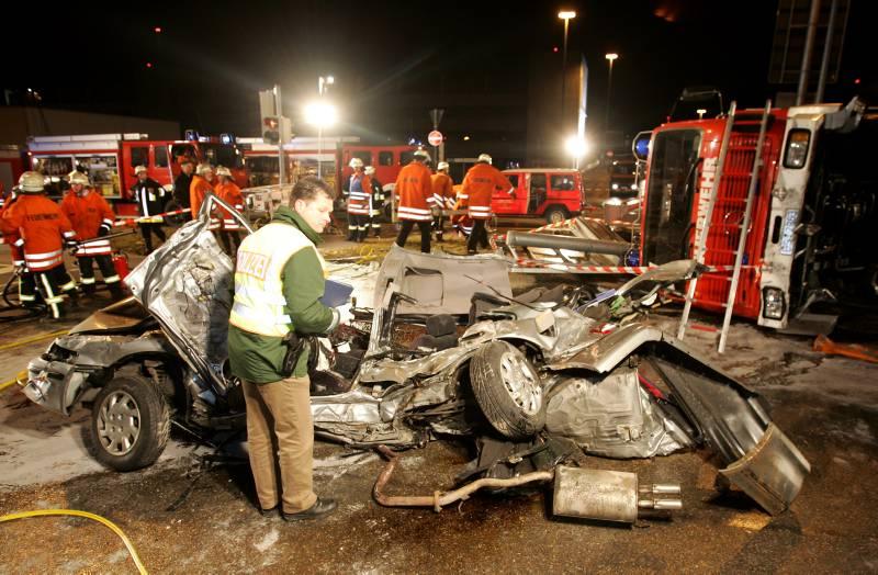 Unfall mit Feuerwehrfahrzeug