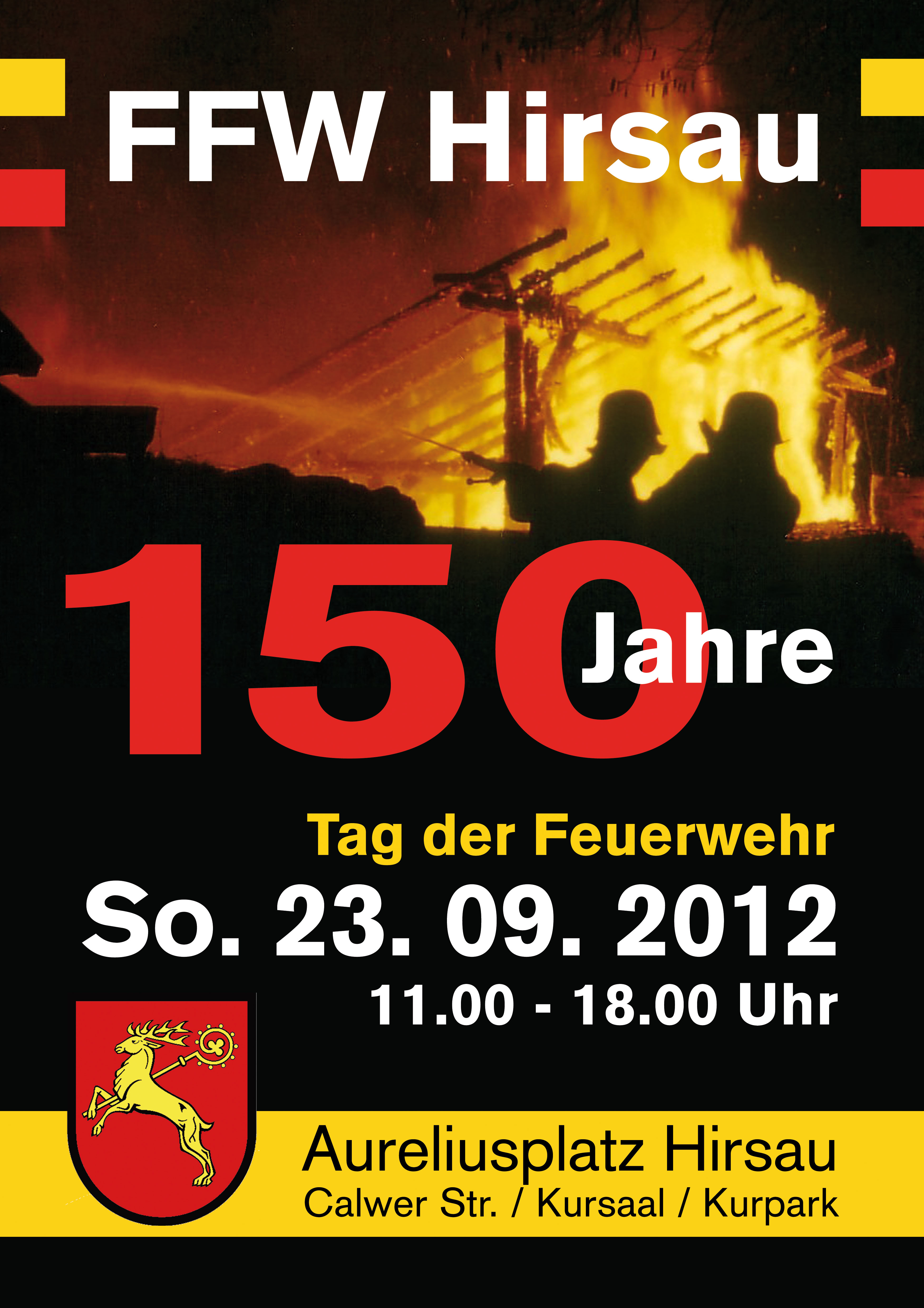 Tag der Feuerwehr 150 Jahre Feuerwehr Hirsau