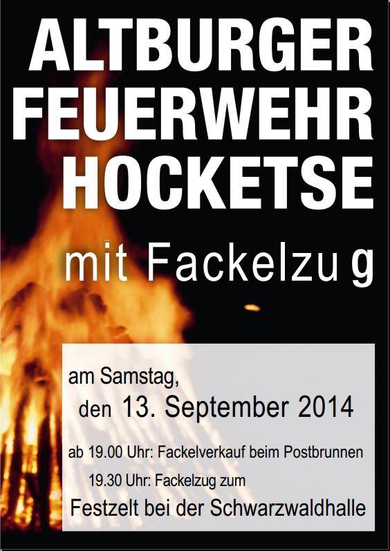 Altburger Feuerwehr Hocketse 2014